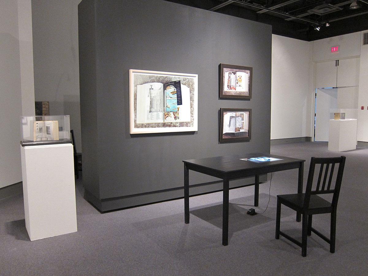 Petit Larousse, Lumen Light Table and images (2003-2007). Reading Room Installation, Cambridge Galleries (2011).