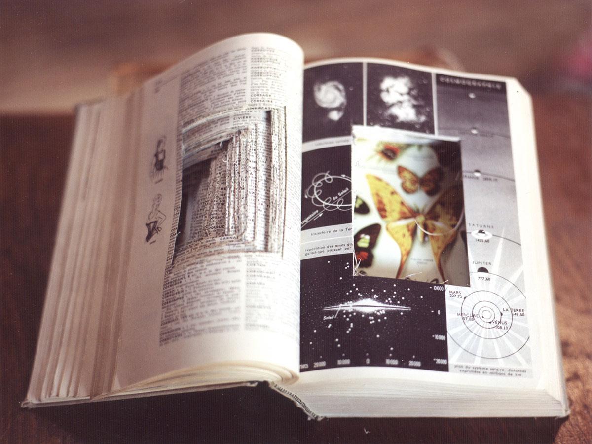 Petit Larousse 1960, altered into a pinhole camera (2003). Chromogenic print.