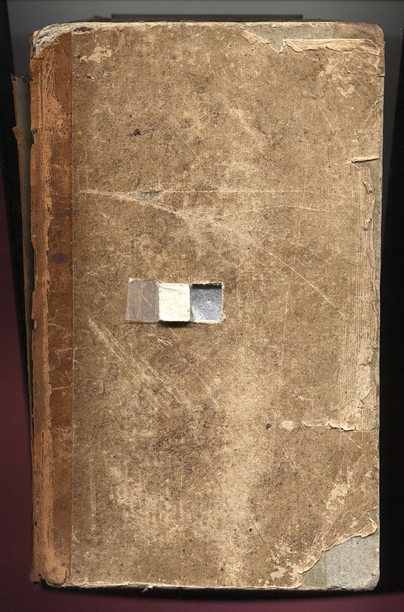 "Maison Rustique 1836, book camera, 10""x13""x2"" (2003)."
