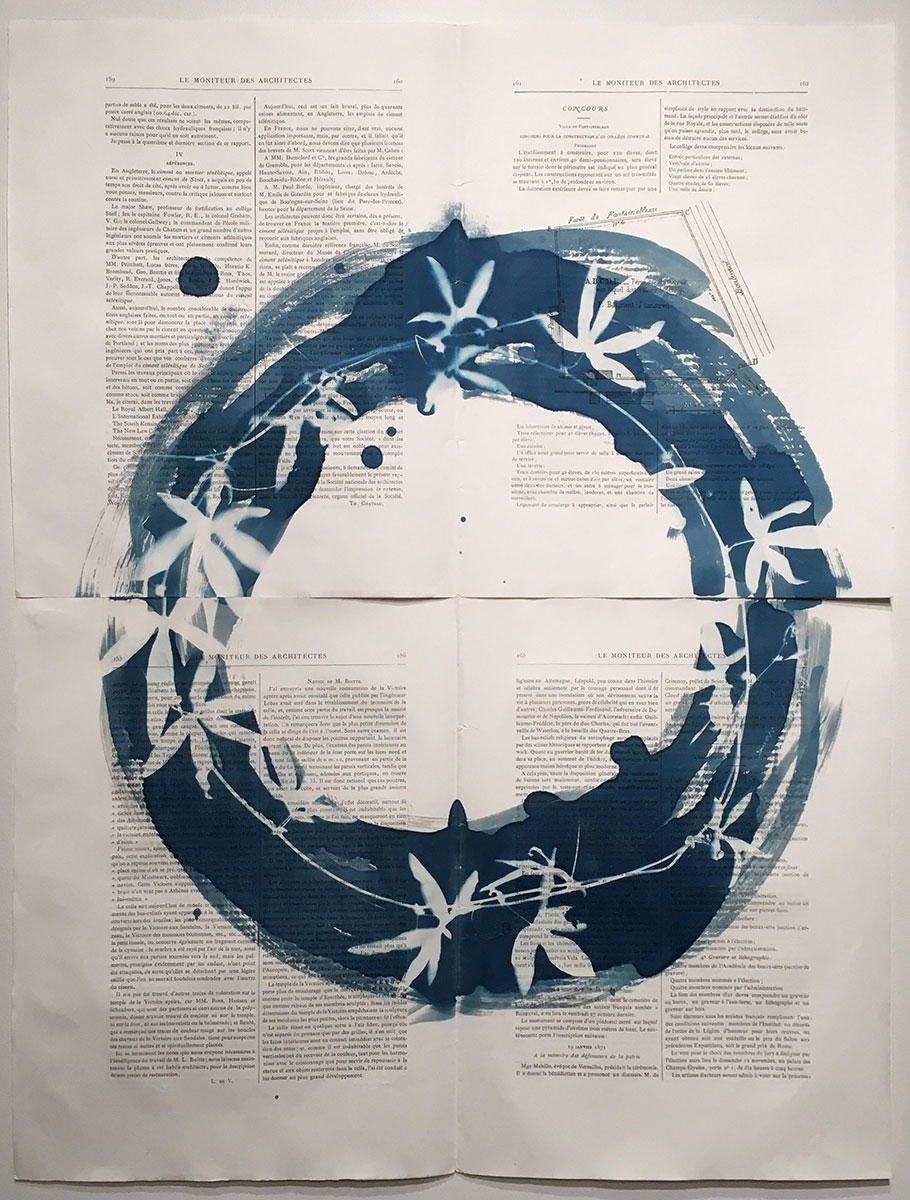"""Clematis Architecture Ring, 2018, 4 panels, 110 x 70 cm, (43"""" x 27"""")"""