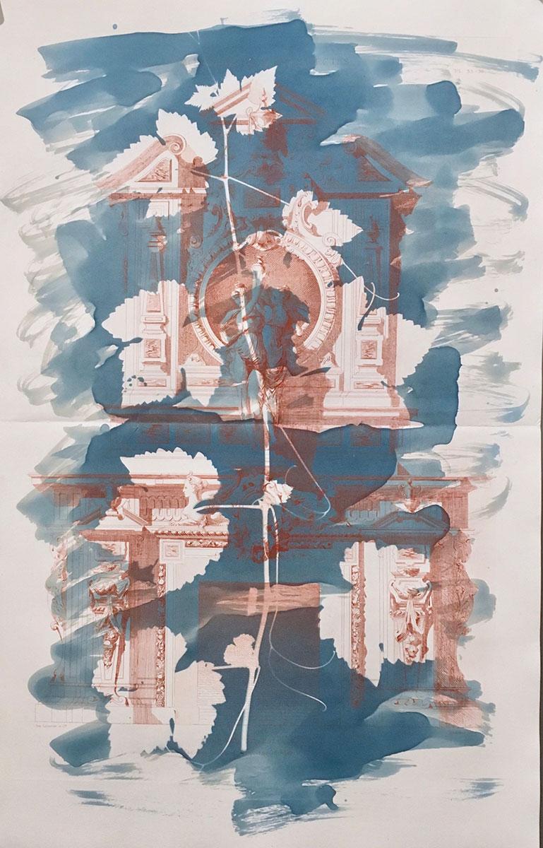 "Cheminee Style Louis XIV, 2018, 55.5 x 35.5 cm (22"" x 14"")"