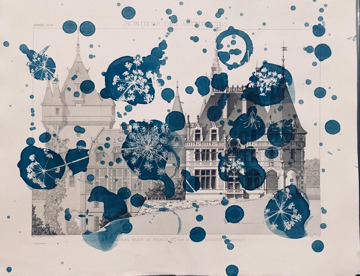 """Chateau pour Le Prince X, 2018,136 x 55 cm (14"""" x 21 3/4"""")"""