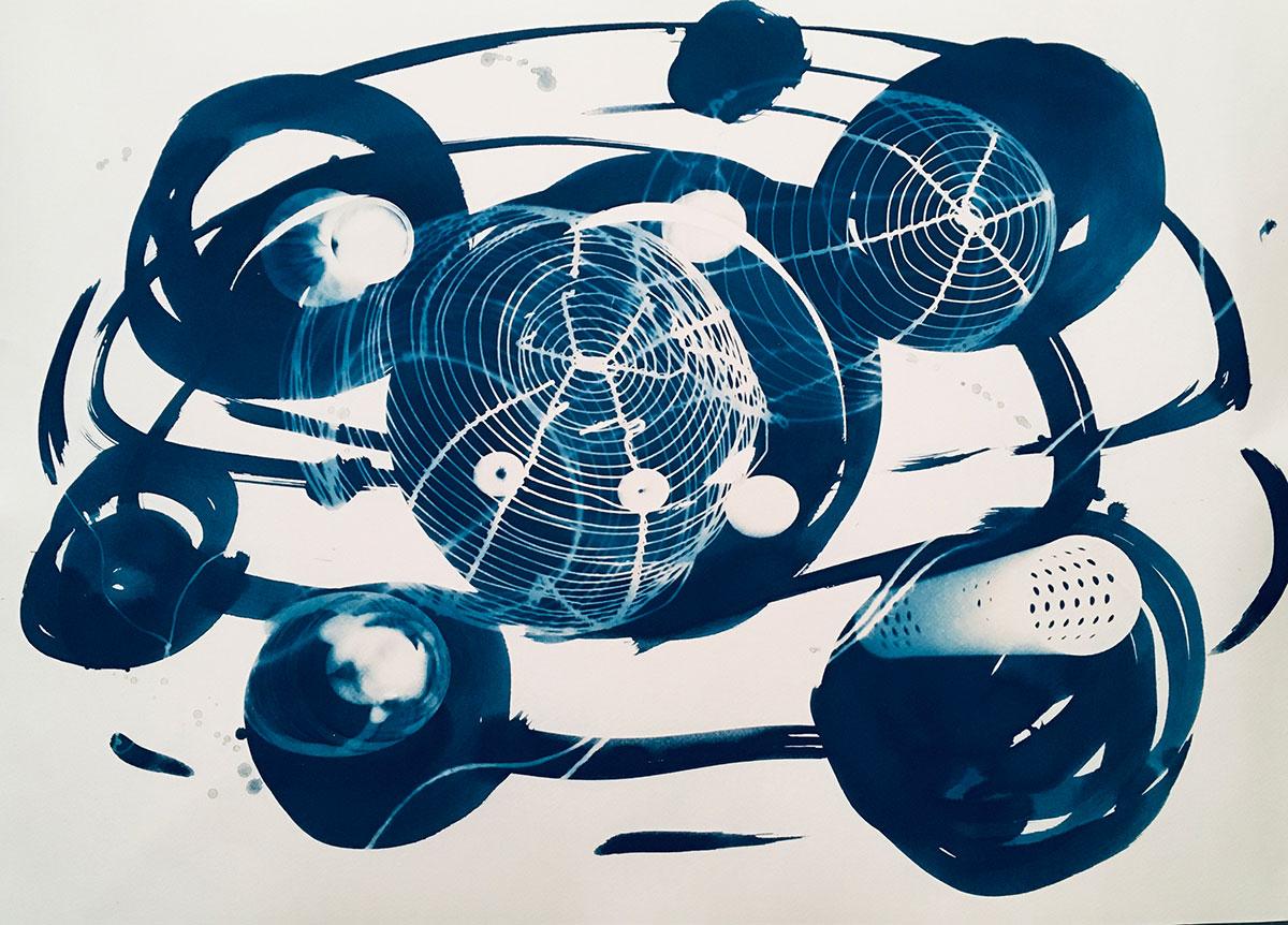 """Man Ray's Buffet 1, 2019, 112 x 76 cm (44"""" x 30"""")"""