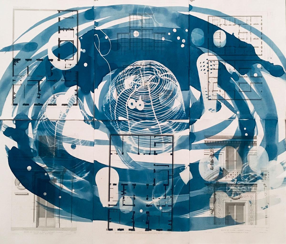 "Man Ray's Buffet 2, 2019, 6 panels, 71 x 84 cm (28"" x 33"")"